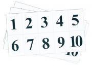 Набор цифр от 1 до 10 (для начальной школы)