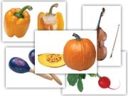 """Набор предметных картинок """"Овощи. Музыкальные инструменты"""" (48 шт., А4, с магнитами)"""