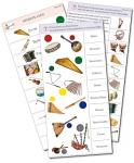 """Комплект карточек (10) """"Обучающий калейдоскоп. Музыкальные инструменты"""""""