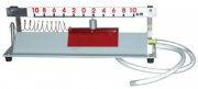 Прибор для демонстрации механ. колебаний (на воздушной подушке)