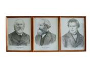 Портреты выдающихся физиков (дерев. рамка, под стеклом) цена за 1 шт.