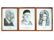 Портреты выдающихся химиков (дерев. рамка, под стеклом)