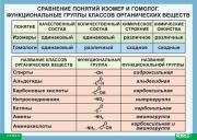 Сравнение понятий изомер и гомолог. Функциональные группы классов органических веществ (100x140) Винил