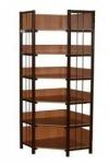 Стеллаж библиотечный угловой (6 полок)