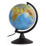 Глобус физический/политический диаметр 210 мм, с подсветкой