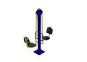 Тренажёр уличный 5 ТР.05 Жим ногами двойной Размер: 1500х500х2050 мм