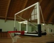 Щит баскетбольный профессиональный 1800*1050 оргстекло h=10 мм на стальной раме 40*40, усил.проф.30*30, доп.плита для кольца