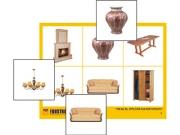 """Лото """"Мебель. Предметы интерьера""""  (4 планшета, 24 карт., цвет., ламинир.)"""
