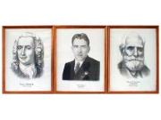 Портреты выдающихся биологов (дерев. рамка, под стеклом)