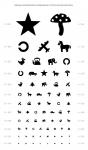 Таблица для определения остроты зрения Орловой (детская)