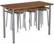 Стол обеденный с подвесами для 6-ти табуретов  1500*700*750