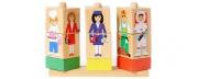 Деревянные кубики на палочке в ассортименте.