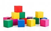 Кубики цветные 20 штук.