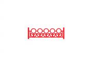 Газонное ограждение ГО.13. Флажкового типа Размер: 2000х40х500 Труба профильная 40 х40, 20 х20,  пруток Ø8мм