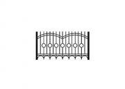 Забор сварной без столба ЗС.16. материал:  п/т 40х20 , 20х20 пруток Ø10мм
