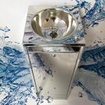 Фонтан питьевой c угольным фильтром ФП-КМ4 с вертикальной подачей воды из нержавеющей стали