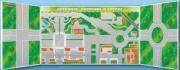 """Панорамная трехэлементная комбинированная магнитно-маркерная доска """"Дорожное движение в городе"""""""