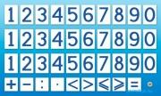 """Комплект магнитов (демонстрационных) для школьной доски """"Цифры и знаки"""""""