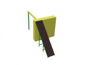 Препятствие  «Забор с наклонной доской». Размер: 4400х2000х2000