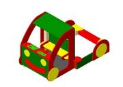 Песочница «Машинка». Размер: 2150х1280х1600