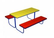 Столик со скамьями 1. Размер: 1200х1500х650
