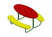 Столик со скамьями 2. Размер: 1220х1220х650