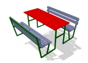 Столик со скамейками 7. Размер: 2000х1900х910