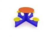 Столик со скамейками 10. Размер:  1300х1300х600 (фанера)