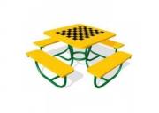 Столик «Шахматы» со скамьями 13. Размер: 1850х1850х750