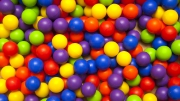Шарики для бассейна цветные
