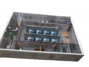 Макет «Убежище» в разрезе (встроенное убежище)
