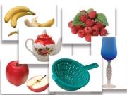 """Набор предметных картинок """"Фрукты, ягоды, орехи. Посуда"""" (48 шт., А4, с магнитами)"""
