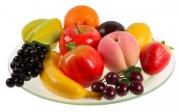 Набор муляжей фруктов с виноградом