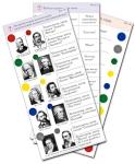 """Комплект карточек (10) """"Обучающий калейдоскоп. Музыкальные произведения"""""""