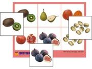 """Лото """"Фрукты, ягоды, орехи"""" (4 планшета, 24 карт., цвет., ламинир.)"""