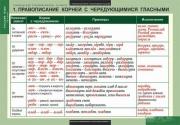 Комплект таблиц. Русский язык. Таблицы для старшей школы. 10 класс. 19 таблиц + методика