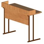 Стол ученический 2-местный для кабинета физики с бортом