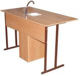 Стол ученический 2-местный для кабинета химии