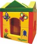 """""""Волшебный домик"""", собирающаяся конструкция (каждая из 4-х стен  состоит из 2-х блоков, крыша  - мат, 4-треугольные призмы)."""