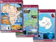 """Комплект таблиц по географии """"Материки и океаны, регионы и страны"""" (18 табл., А1, лам.)"""