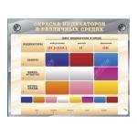 """Электрифицированный оптический стенд """"Окраска индикаторов в различных средах"""" с маркерными полями"""