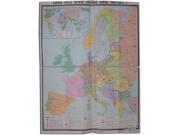 """Учебная карта """"Европа после 1-ой мировой войны"""" (матовое, 2-стороннее лам.)"""