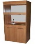 Шкаф  лабораторный с комплектом сантехники.
