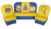 «Аппликация» комплект мягкой игровой мебели (диван, кресло 2 шт)