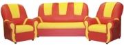 «Добрый Гном на хромированных ножках» комплект мягкой игровой мебели                                                                          объем: 0,9 м3; вес: 30 кг