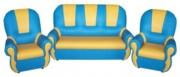 «Добрый Гном» комплект мягкой игровой мебели. Комплект:             (диван - 1 шт.,        кресло - 2 шт.)