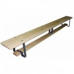 Скамейка гимнастич. деревянная на метал.ножках L=1,2м,шт