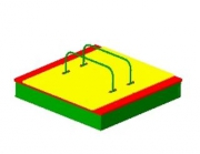 Песочница с крышками ФСФ, Размер: 1500х1500х500