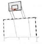 Ворота для мини-футбола  комбинированные с  баскетбольным щитом 1200*900 мм из фанеры