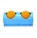 Игрушка-массажер Два игольчатых, вращающихся шарика, диаметром 8 см. Цвет: синий / желтый размеры:  24 х 13,2 х 10,4 см